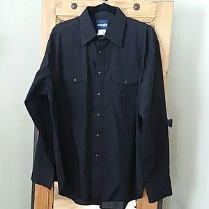 Men's Black Wrangler Western Shirt